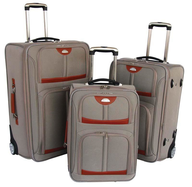 wholesale liquidation grey orange suitcases