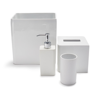 wholesale liquidation lacca white bath accessories