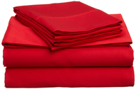 wholesale discount red bed sheets
