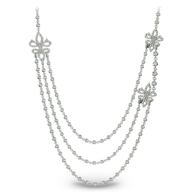 wholesale silver diamond long necklace